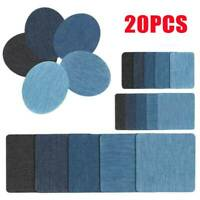 20x Assorted Iron On Denim Fabric Mending Patches Repair Kit for Denim Jeans DIY