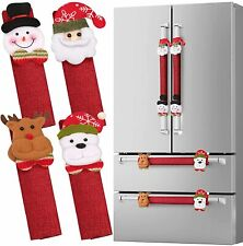 Refrigerator Door Handle Covers Set of 8 Santa Snowman Kitchen Appliance Covers