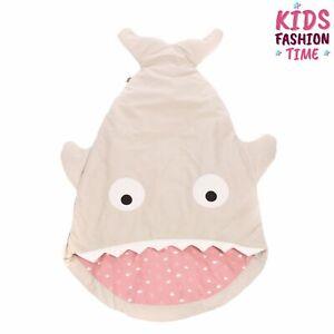 BABY BITES Baby Sleeping Bag Shark Shape Padded Logo Detail Side