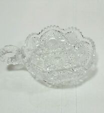 Krys-tol Saw Tooth Candy Relish Dish With Handle Serving Tray Gloria pattern