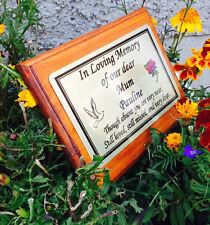 Solid Madera Monumento Estacas GRAVE/ Árbol Marcador cremación Con Personalizado