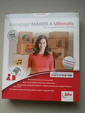 HOMEPAGE MAKER 6 ULTIMATE - cd per pc e mac - NUOVO