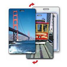 Golden Gate Bridge Luggage Bag Travel Tag Cable Car Lenticular #LT01-229#