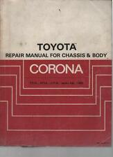 TOYOTA CORONA TT140, TT141, RT140, CT140 SERIES CHASSIS & BODY MANUAL FEB. 82