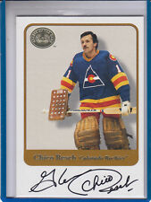 "2001-02 FLEER GREATS OF THE GAME GLENN ""CHICO RESCH"" NY ISLANDERS AUTOGRAPH AUTO"