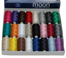24 Colour Moon Polyester Sewing Thread, 1000yds Each Spool