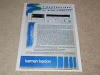 Harman Kardon CD491 Ultimate Cassette Deck Ad, 1984, 1 page, Specs, Article