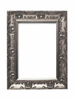 WIDE Ornate Shabby Chic Antique swept Picture frame photo frame GUN METAL /MUSE