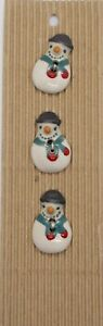 Snowman shaped, Handmade Ceramic Buttons, Incomparable Buttons (L176)