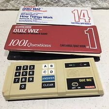 COLECO 1979 QUIZ WIZ ELECTRONIC QUESTION & ANSWER GAME W/ 2 CARTRIDGE/BOOK SETS