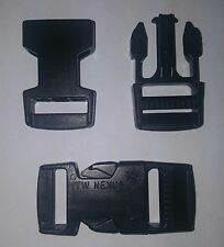 "QTY(8) 1"" ITW NEXUS BLACK PLASTIC SIDE RELEASE BUCKLE (MALE AND FEMALE)"