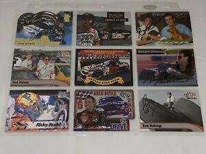 9 NASCAR SIGNED CHAMP/HOF LOT cards ROBERT YATES Newman CHILDRESS Rudd +MORE