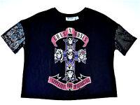 Guns N' Roses Damen T-Shirt Pailletten Festival 32-48 Appetite For Destruction