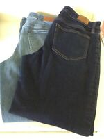 Lands' End Jeans Women's Sz 10 Mid Rise Straight 2 pairs