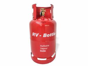Gastankflasche Tankflasche Brenngastank 11 Kg 21,2 Liter 3 Adapter Neu LPG