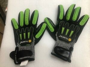 New! Tilsatec Knuckle Guard Extreme Cut Impact Gloves TTP091SNF-KG  Size 10