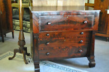 EMPIRE CHEST OF DRAWERS - AMERICAN, MAHOGANY
