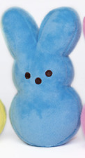 PEEPS Plush Easter Bunny Blue NWT 6 inches