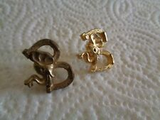 lot of 2 vintage GULF OIL REPUBLICAN ELEPHANT HORSESHOES LAPEL HAT PIN PINS