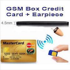 NEW GSM BOX Credit Card Earpiece Spy Covert Bluetooth Hidden Wireless Earphone