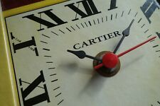 very nice and rare VINTAGE advertisement CLOCK by CARTIER