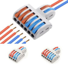 1PC Wire Connector 2 In 4/6 Out Wire Splitter Terminal SPL-42/62 Compact Wir LS
