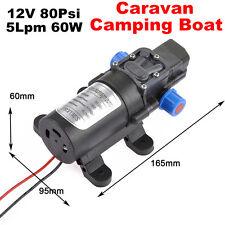 12V 80Psi Water Pump High Pressure 5Lpm 60W Self-Priming Caravan Camping Boat