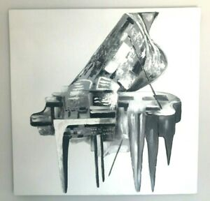 Abstract Piano Painting Mono Large Original Picture Canvas Wall Art Hand Painted