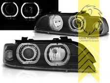 CCFL Angel Eyes Scheinwerfer für BMW E39 Limousine Touring schwarz für XENON
