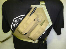 "Pighunting heavy 16 oz ripstop canvas UHF/GPS"" DOUBLE"" HOLSTER WITH MAP POCKET"