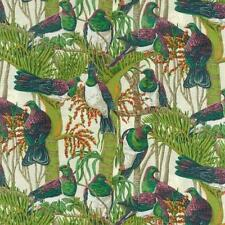Fat Quarter Colourful Wood Pigeons 100% Cotton Quilting Fabric Nutex