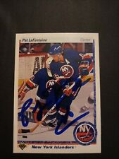 1990-91 Upper Deck Pat LaFontaine Islanders Auto Autographed Signed Card