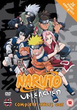 NARUTO UNLEASHED  TO COMPLETE SERIES 1 - DVD - REGION 2 UK