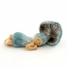 Sleeping Blue Mushroom Shroom Baby (4482) Miniature Figurine FAIRY GARDEN NEW