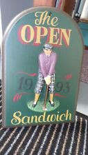 New listing The Open Sandwich 1993 Wall Plaque Ceramic On Wood