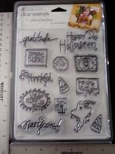 13 Acrylic Stamps -Winter Holiday- Halloween, New Years,Trick or Treat, Jan. 1,
