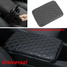 Black Car SUV Armrest Pad Cover Auto Center Console PU Leather Cushion Exquisite