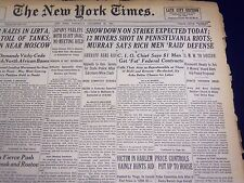 1941 NOV 22 NEW YORK TIMES - 12 MINERS SHOT IN PENNSYLVANIA RIOTS - NT 1111