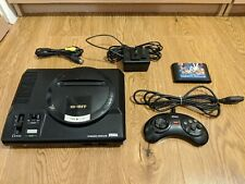 SEGA Mega Drive 1, 16 Bit Console + Power Supply + Gamepad + AV Cable + Game