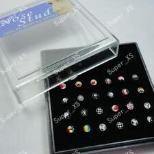pierce wholesale lots jewelry W display 120pcs enamel nose stud pin rings body