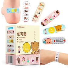 80Pcs For Children Kids Cartoon Waterproof Bandage Band-Aid Hemostatic Adhes SL