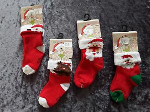 Kleinkinder Weihnachtssocken  +rot mit Motiv+ + ABS+ Gr. 12-24Mon. + Nr .313-317