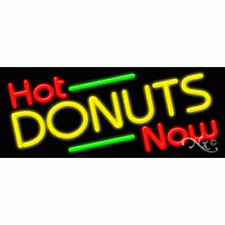 """New """"Hot Donuts Now"""" 32x13 Border Neon Sign w/Custom Options 11423"""