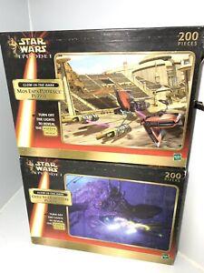 2x Vintage 1999 Star Wars Episode One I 200 Piece Puzzles Hasbro