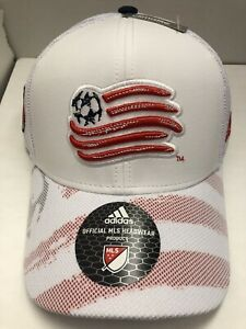 New England Revolution Adjustable MLS  ADIDAS Men's Hat Red/White Navy