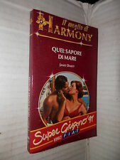 QUEL SAPORE DI MARE Janet Dailey Harlequin Mondadori 1991 romanzo libro Harmony