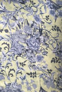 Silky floral Pattern Satin Fabric 100% Polyester By The Yard- Yellow Background