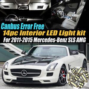 14Pc Error Free White Interior LED Light Kit for 2011-15 Mercedes-Benz SLS AMG