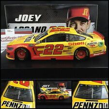 2019 JOEY LOGANO AUTOGRAPHED / Signed #22 SHELL PENNZOIL MUSTANG 1/24 W/COA