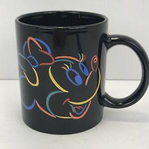 Minnie Mouse Disney Black Coffee Tea Mug Cup Collectible